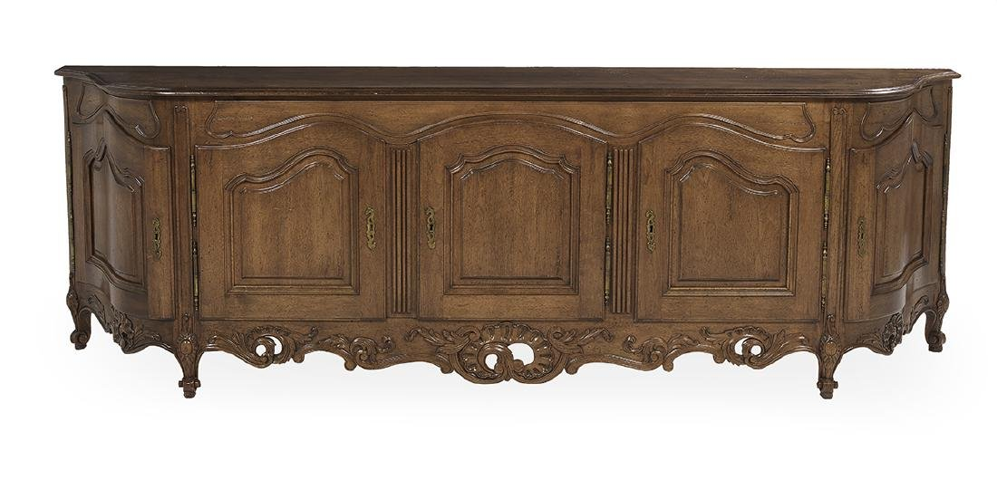 Provincial Louis XV-Style Fruitwood Buffet