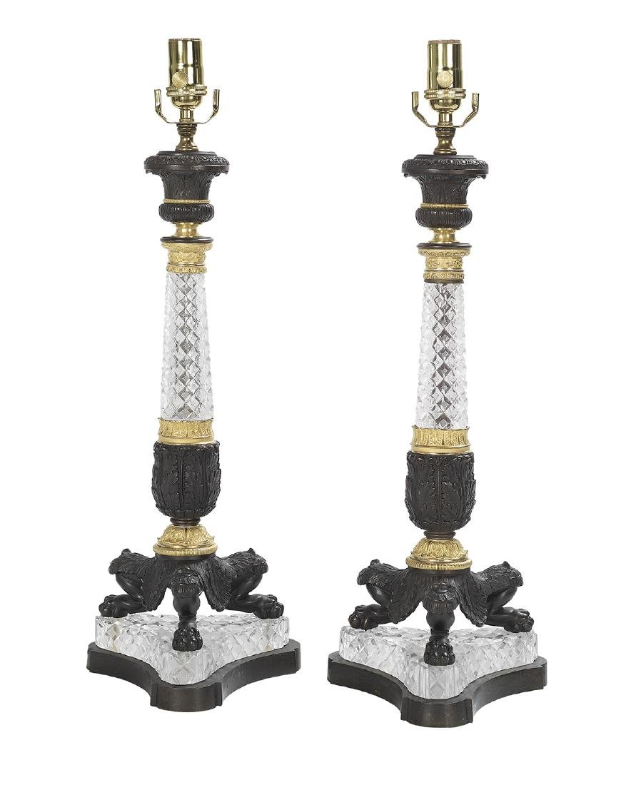Pair of French Empire-Style Lamps