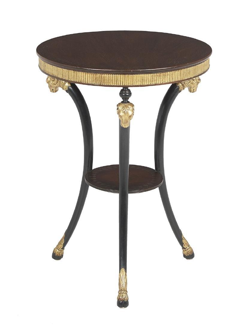 Empire-Style Mahogany Occasional Table