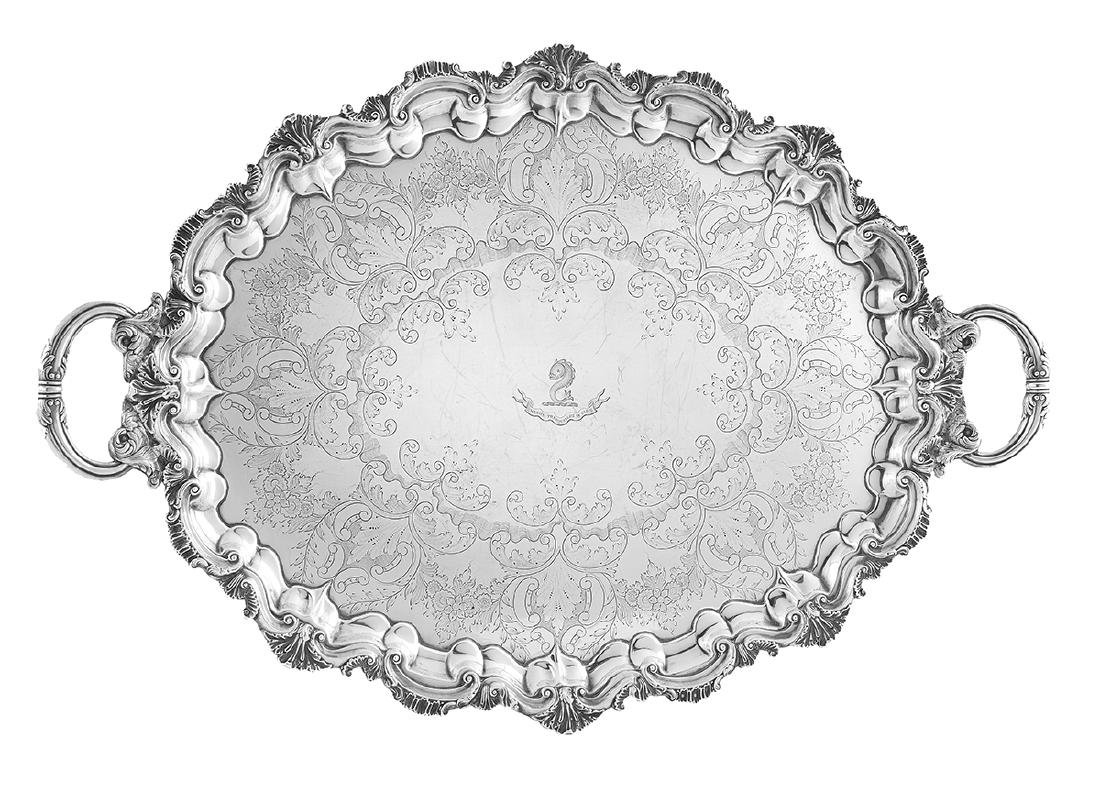 Victorian Sterling Silver Tea Tray