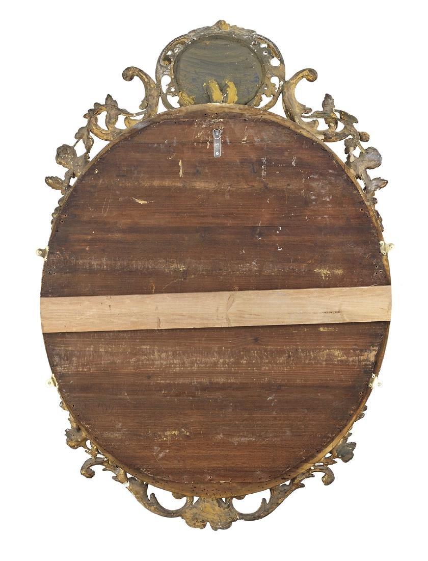 Louis XVI-Style Giltwood Oval Mirror - 2