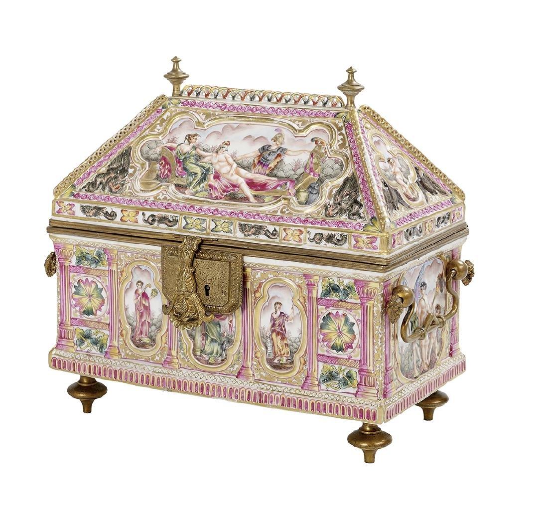Capodimonte Porcelain Casket