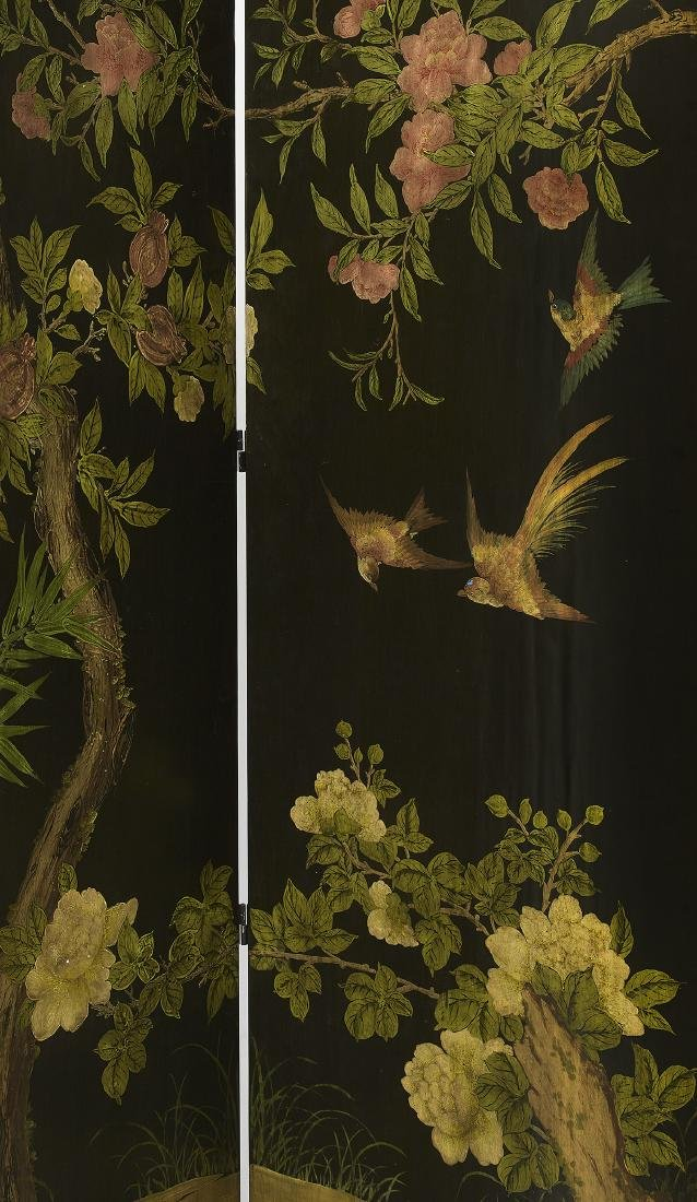 Chinoiserie-Style Eight-Panel Floor Screen - 4