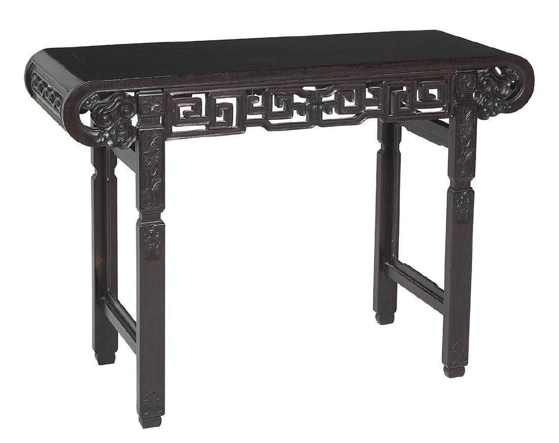 Japanese Carved Hardwood Altar Table