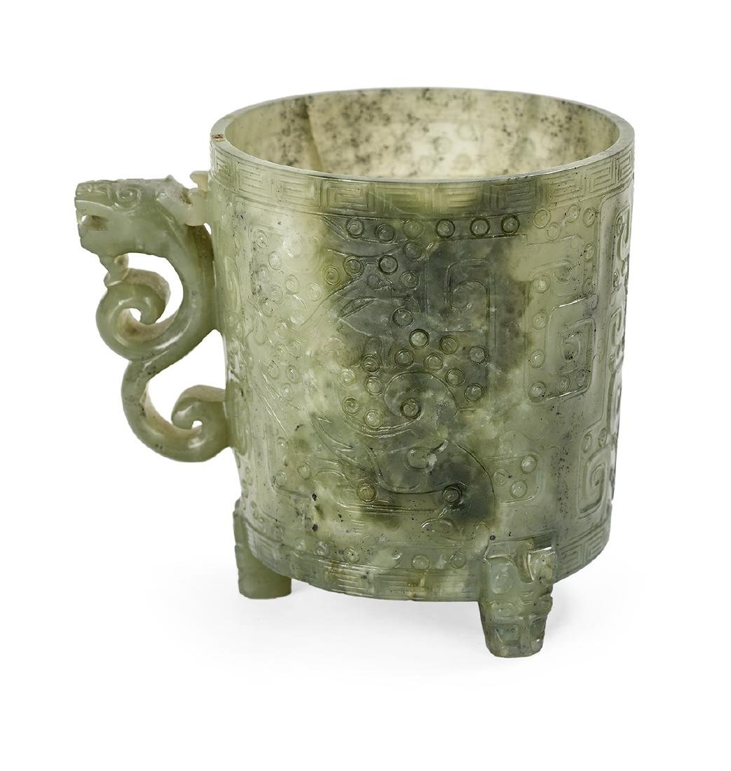 Chinese Spinach Jade Cup