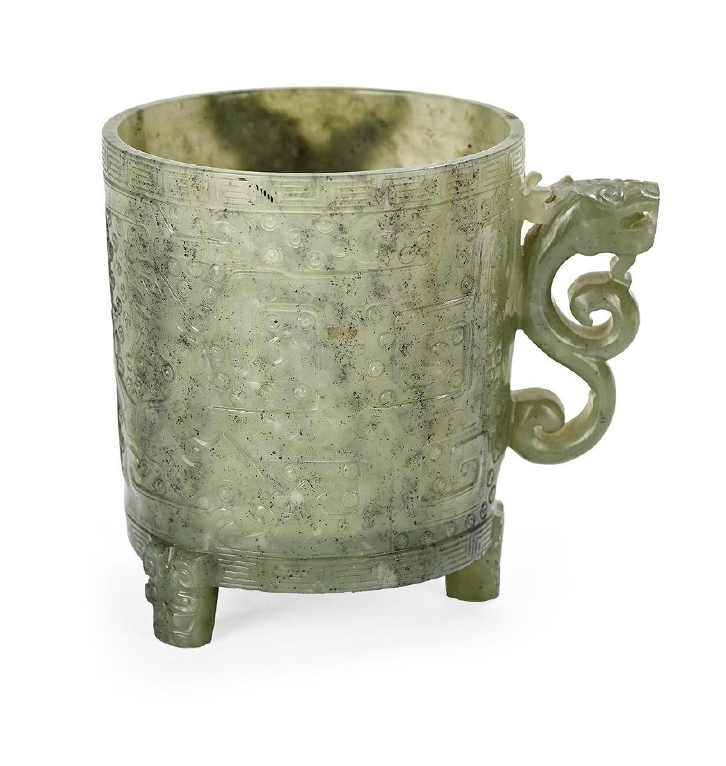 Chinese Spinach Jade Cup - 2