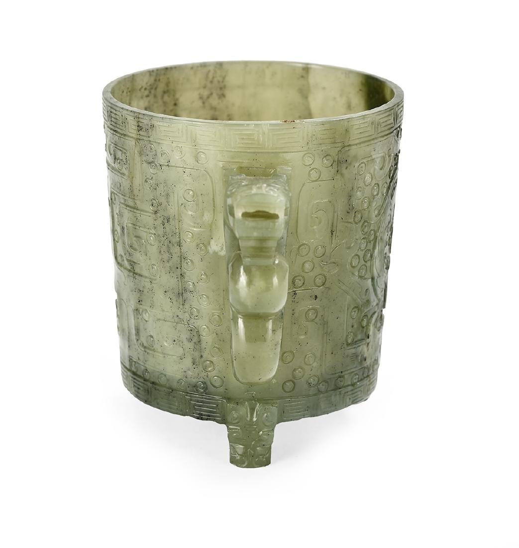 Chinese Spinach Jade Cup - 4