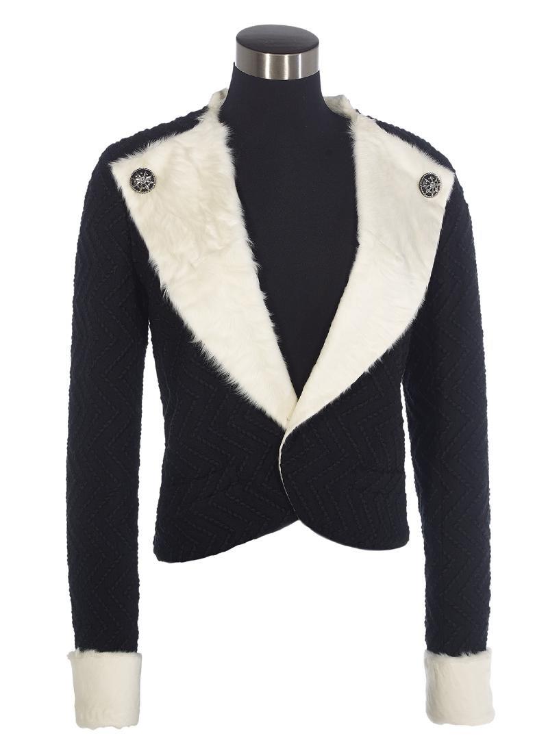 Chanel, Paris, Fur-Lined Black Wool Boucle Jacket