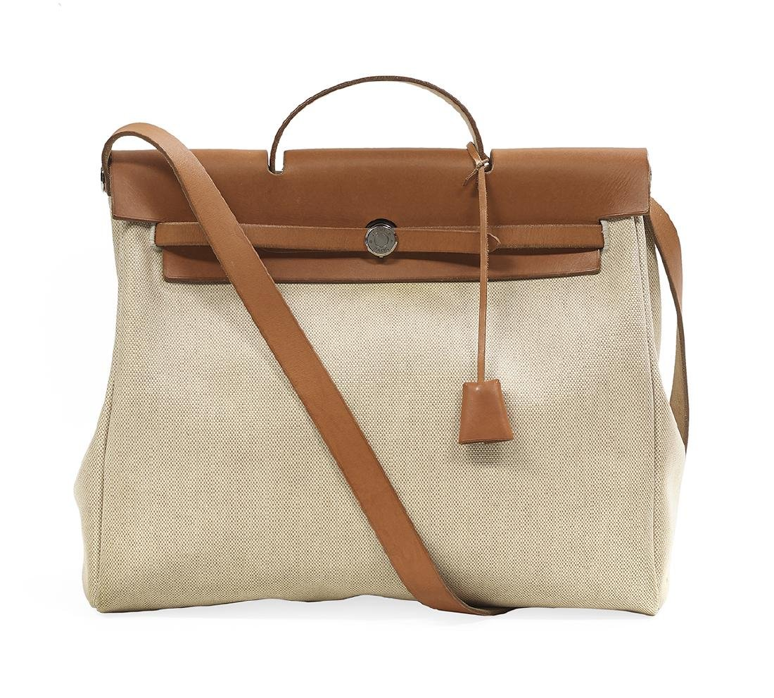 """Hermes, Paris, Toile and Leather """"2-in-1 Herbag"""" - 2"""