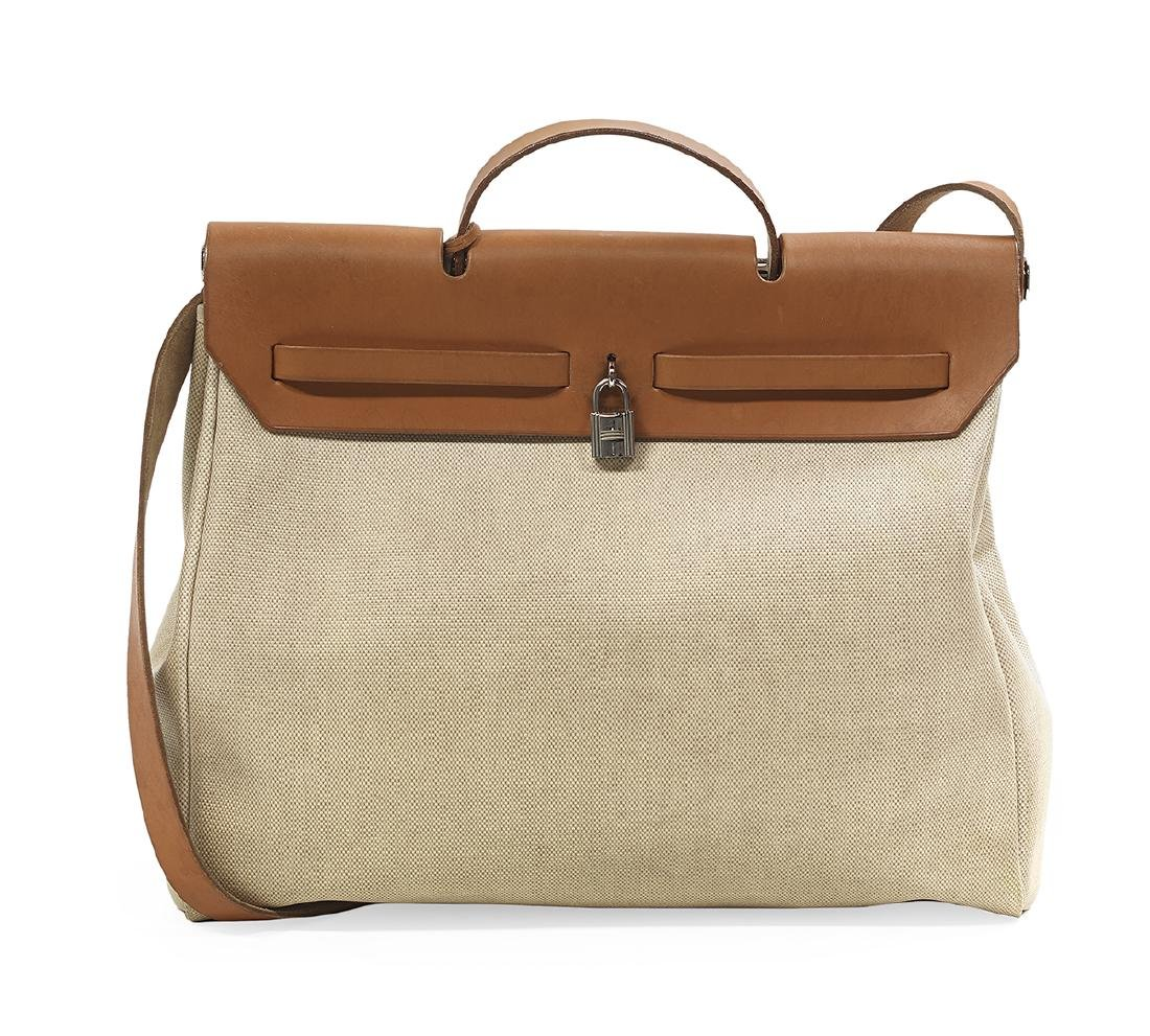 """Hermes, Paris, Toile and Leather """"2-in-1 Herbag"""" - 3"""