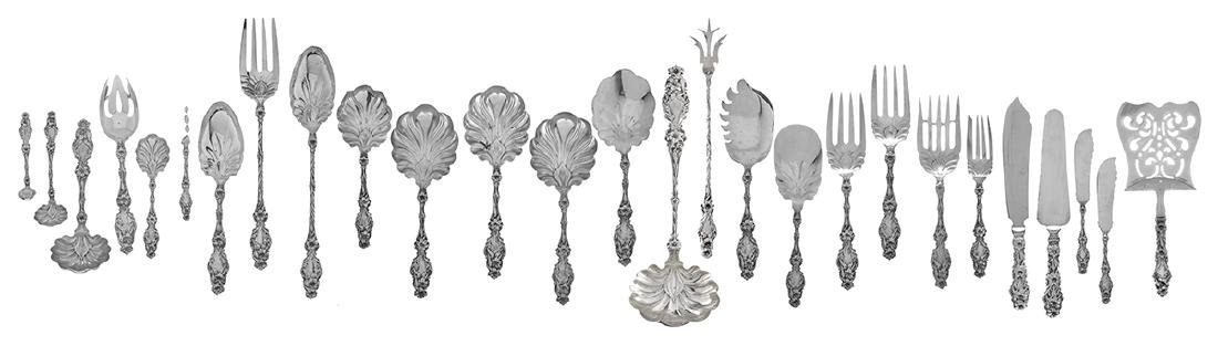 "Whiting ""Lily"" Sterling Silver Flatware Set - 3"