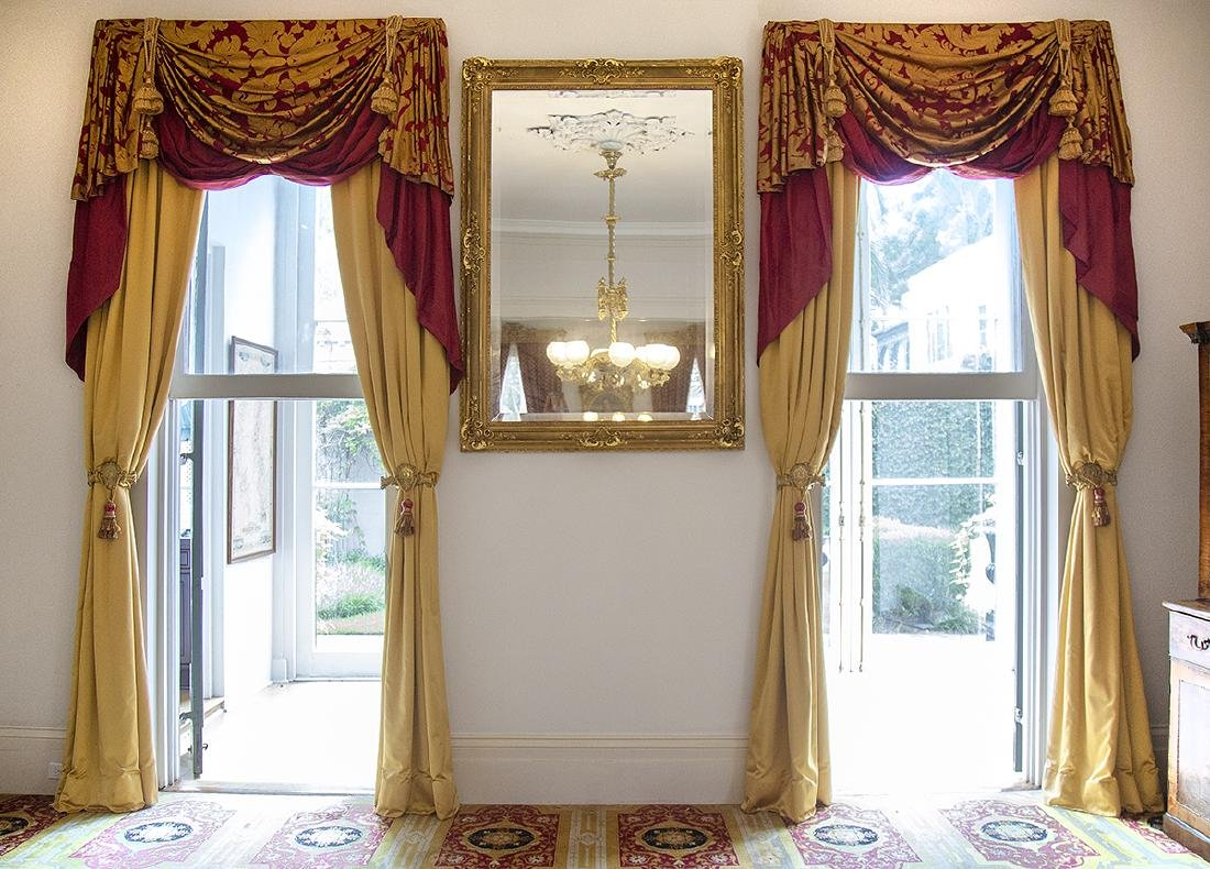 Four Sets of Curtains and Valances - 2