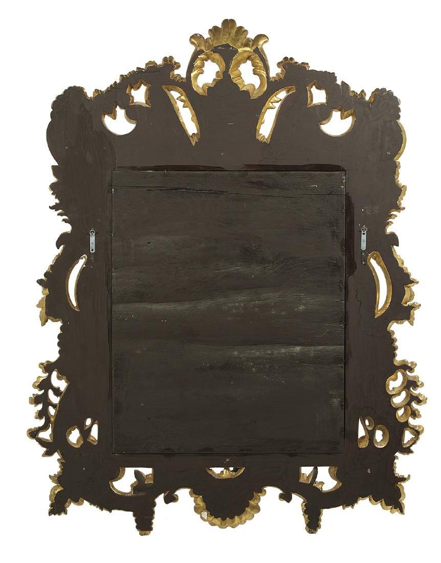 Baroque-Style Giltwood Mirror - 2