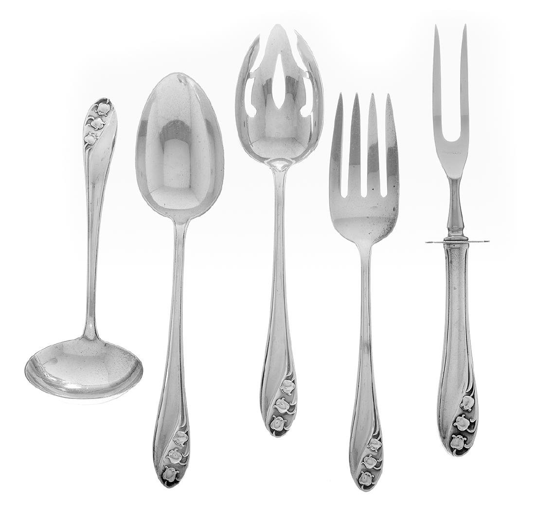 """Gorham """"Lily of the Valley"""" Sterling Flatware"""