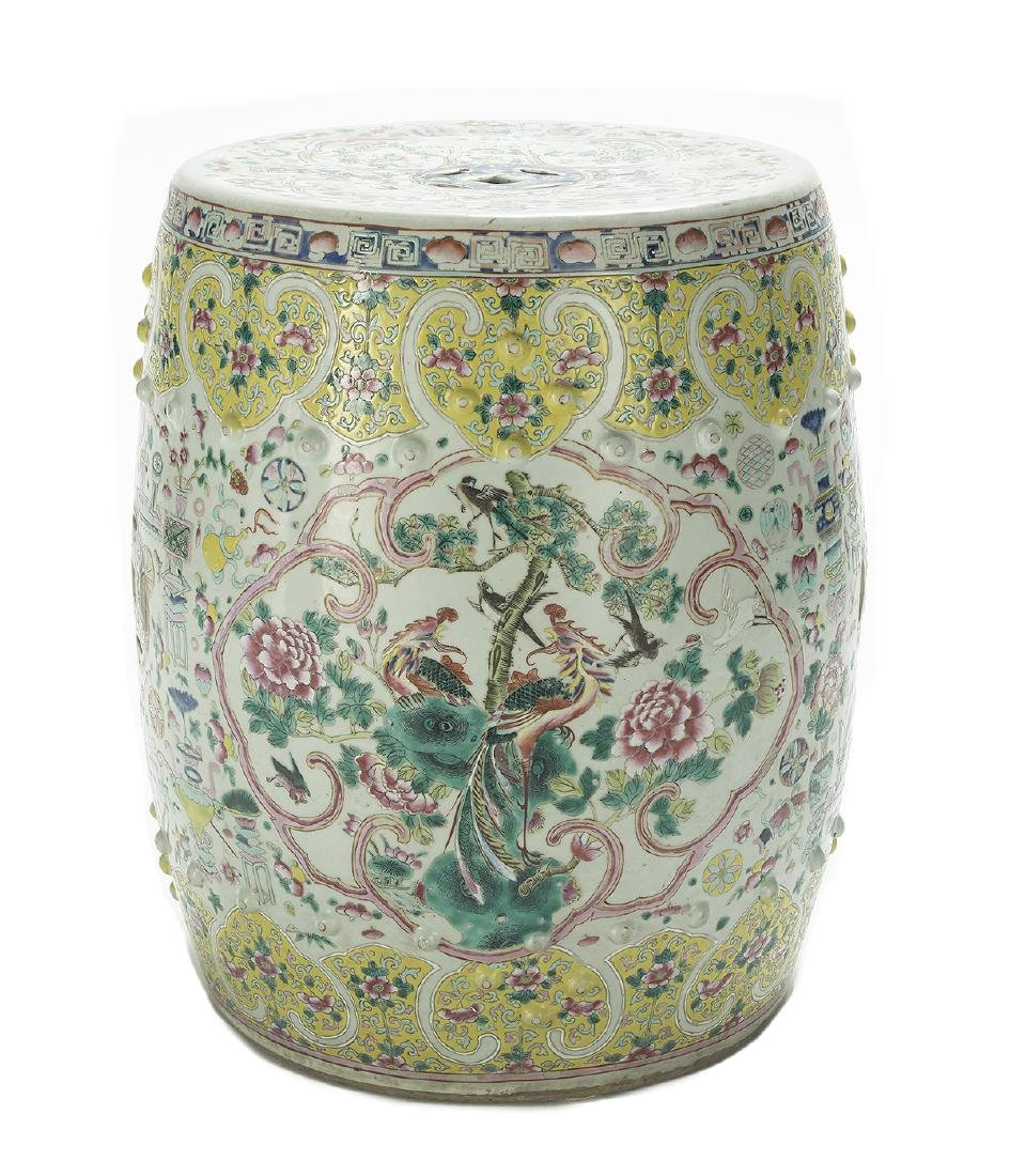 Chinese Export Famille Jaune Garden Seat