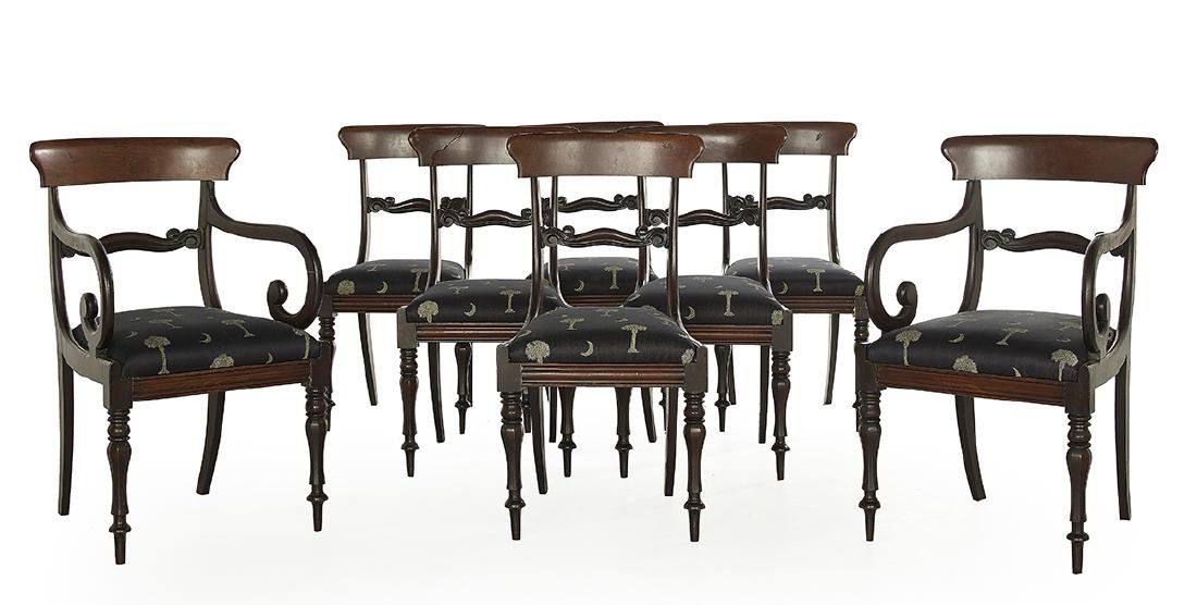 Suite of Eight Victorian Mahogany Dining Chairs