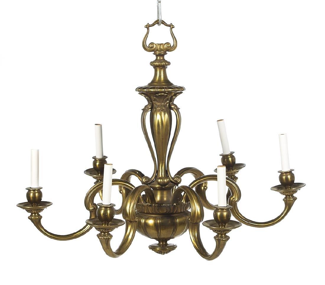 Louis XIV-Style Brass Chandelier