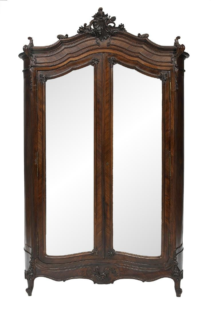 Louis XV-Style Rosewood Armoire