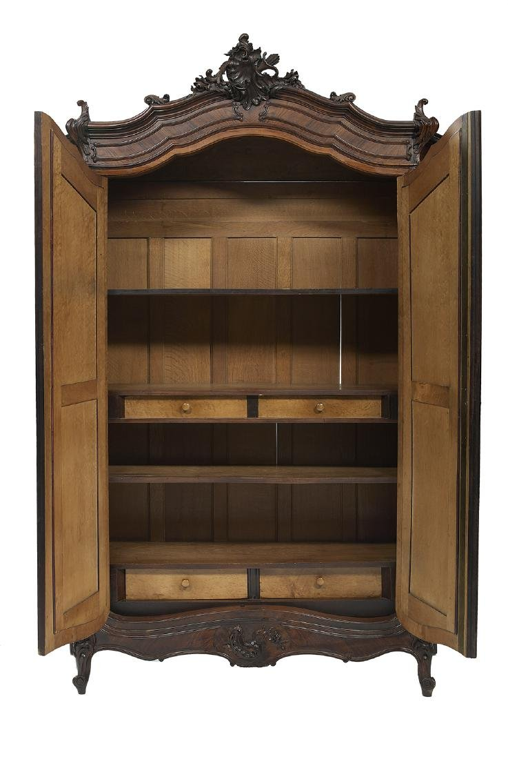 Louis XV-Style Rosewood Armoire - 2