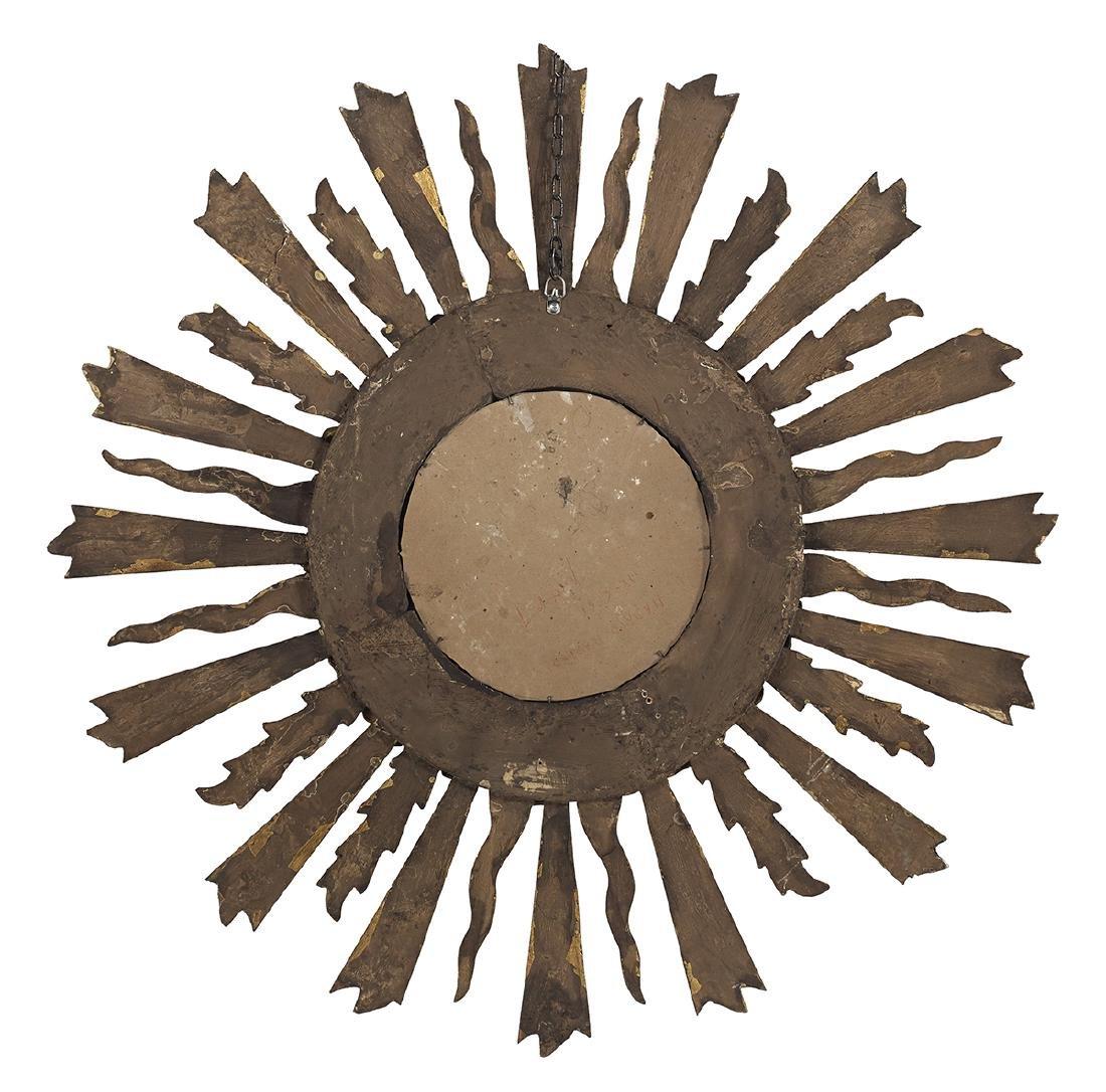 """Louis XV-Style Giltwood Sunburst Mirror dia. 31"""" - 2"""