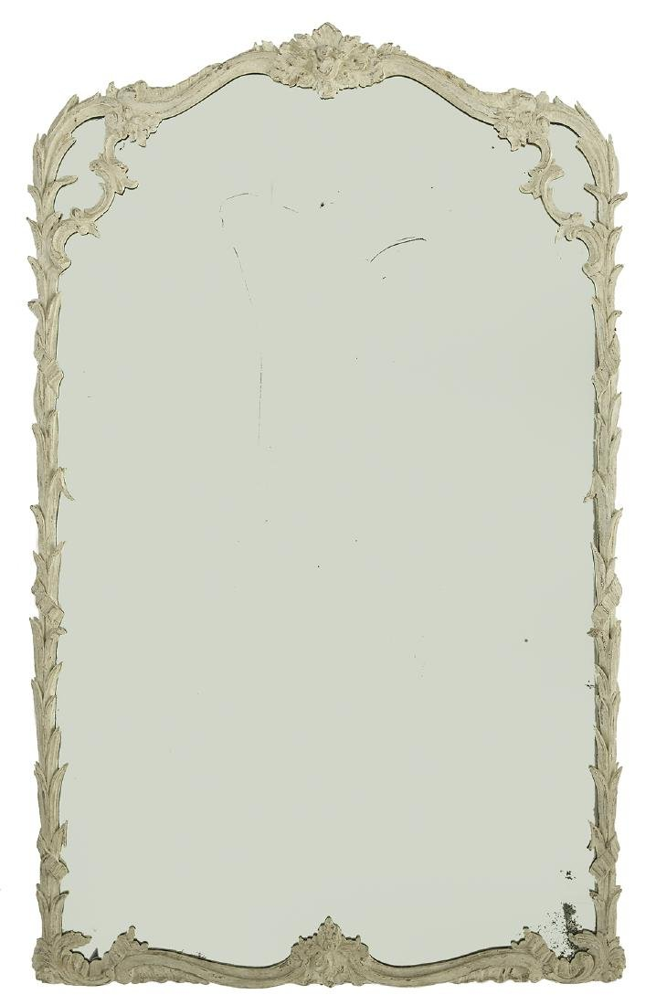 Louis XV-Style Painted Mirror