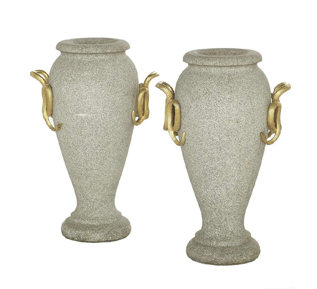 Pair of French Neoclassical-Style Urns