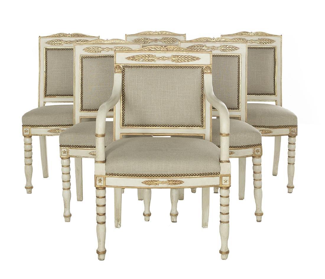 Six Swedish Neoclassical-Style Salon Chairs