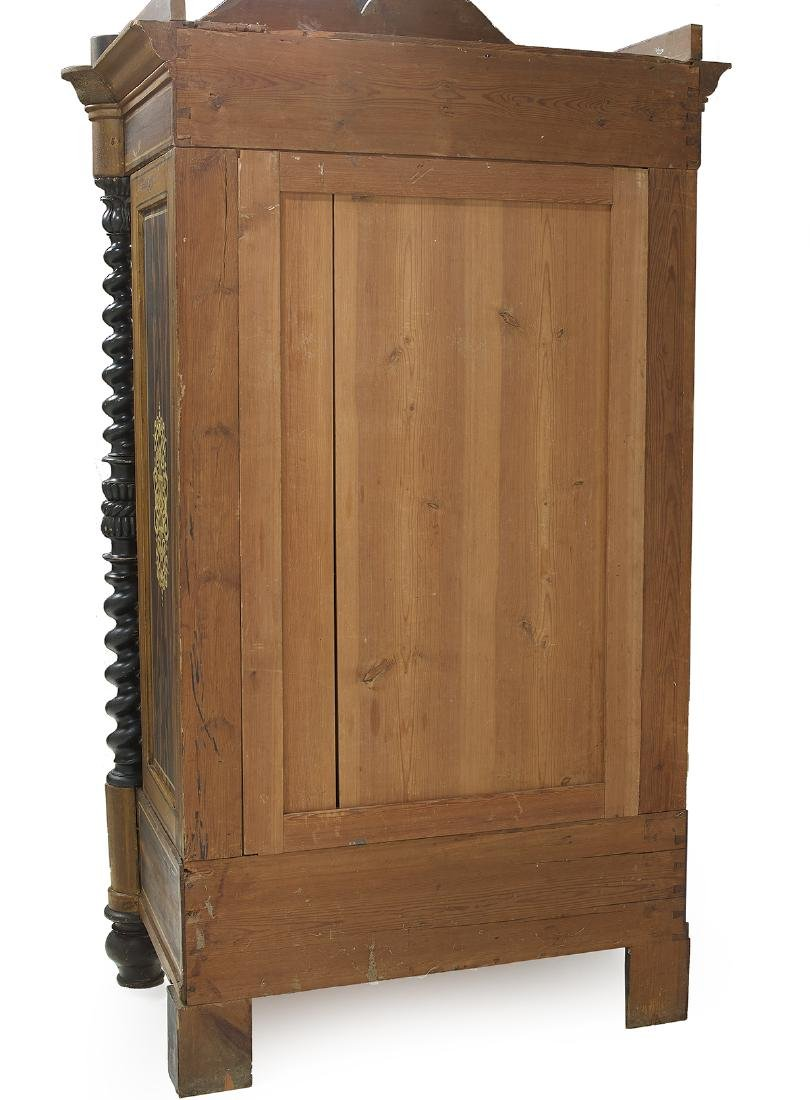 Continental Polychrome and Faux Bois Cabinet - 3