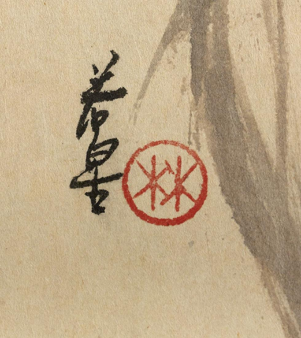 Five Chinese Watercolor & Ink Paintings on Paper - 10