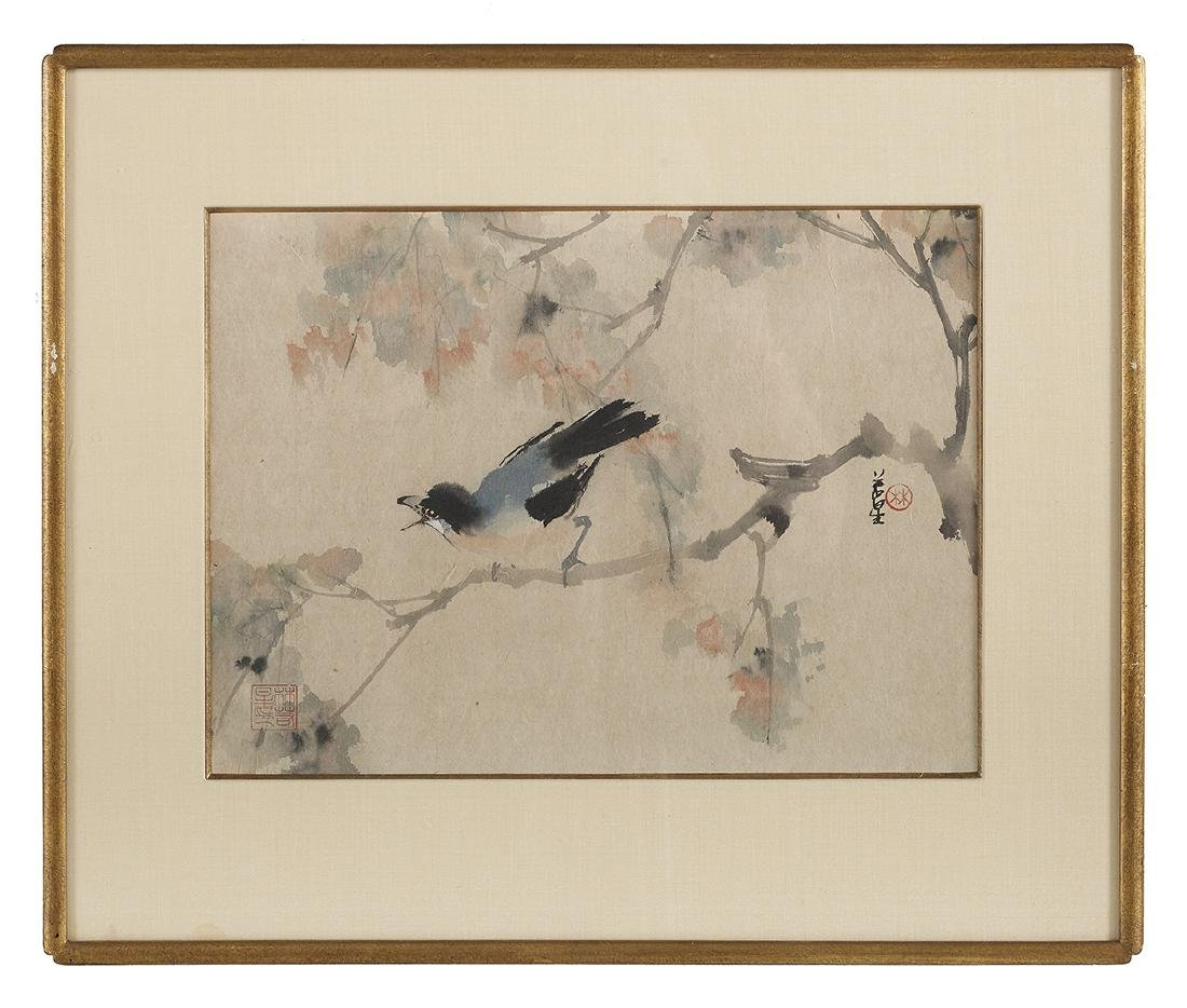 Five Chinese Watercolor & Ink Paintings on Paper - 2