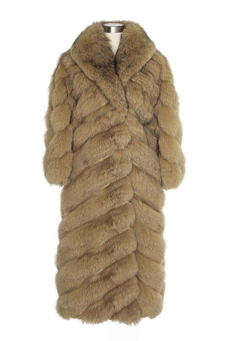 Vintage Jay Lester Full-Length Red Fox Coat