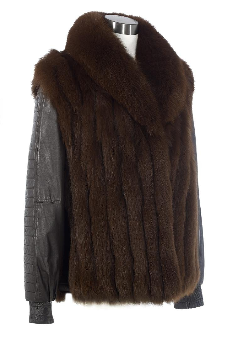 Fox and Leather Convertible Jacket