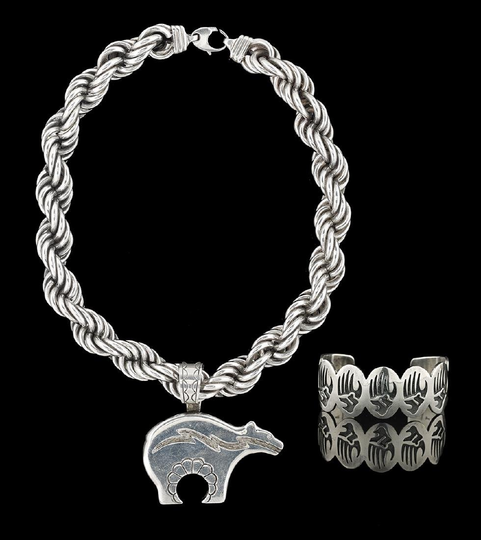 Sterling Silver Chain, Pendant and Bracelet