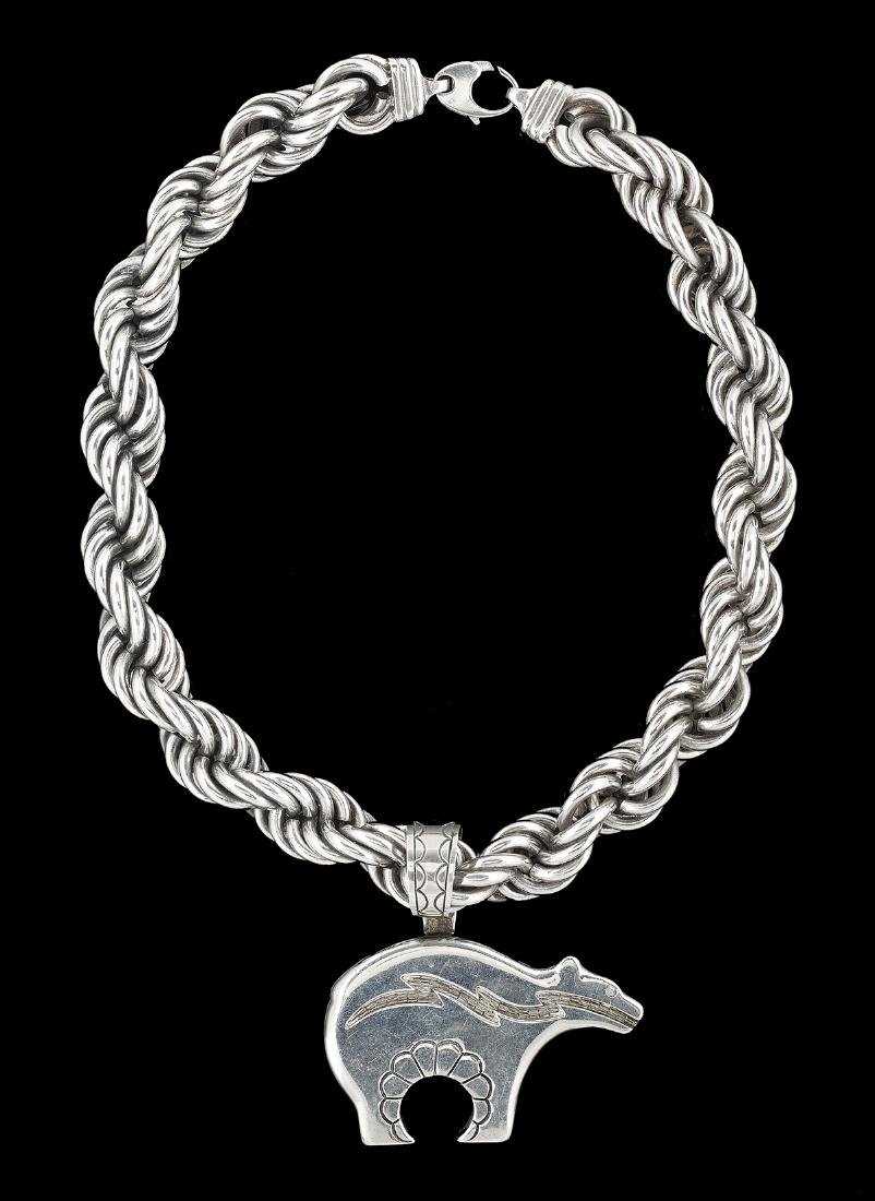 Sterling Silver Chain, Pendant and Bracelet - 2