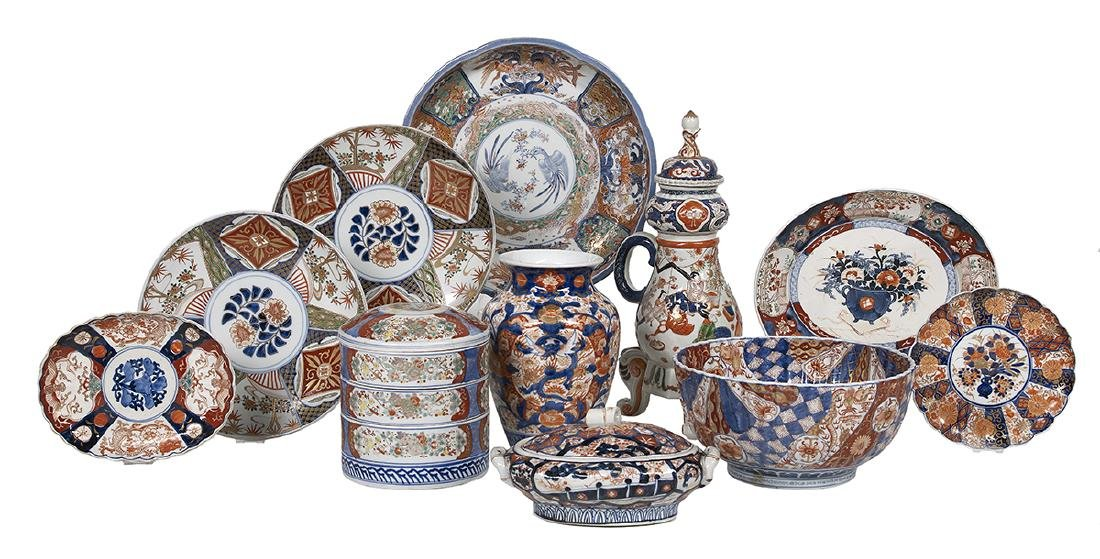 Eleven Pieces of Japanese Imari Porcelain