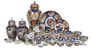 Twenty-Three Pieces of Japanese Imari Porcelain