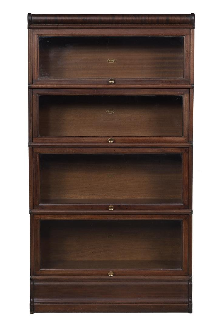 Four-High Mahogany Stacking Bookcase