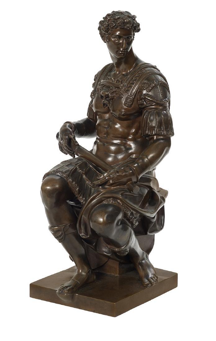 "Italian Patinated Bronze of ""Giuliano de Medici"""