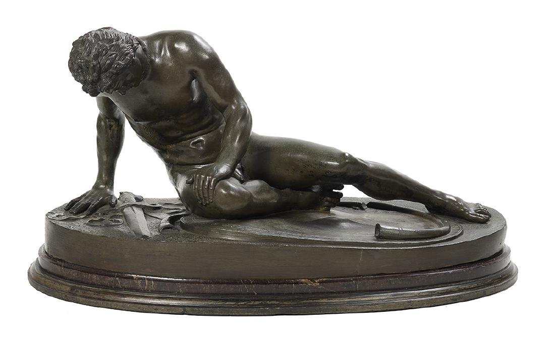 """Italian Patinated Bronze of """"The Dying Gaul"""""""