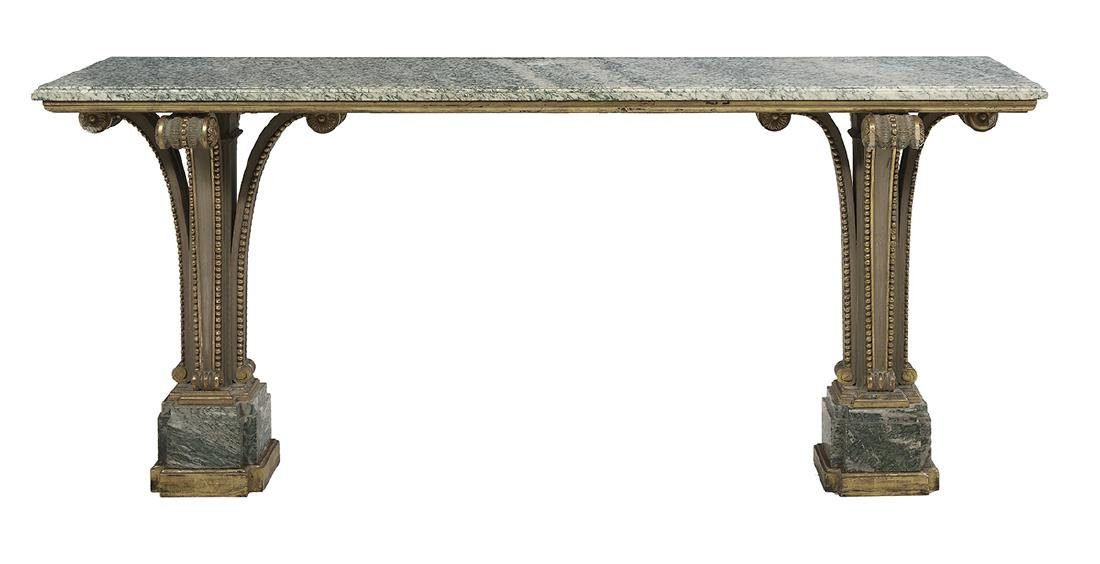 Marble and Polychrome Side Table