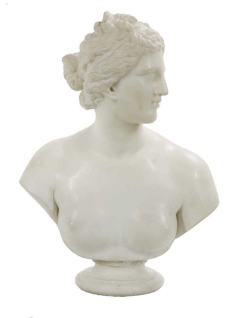 Italian Carved Marble Bust of the Venus de Medici