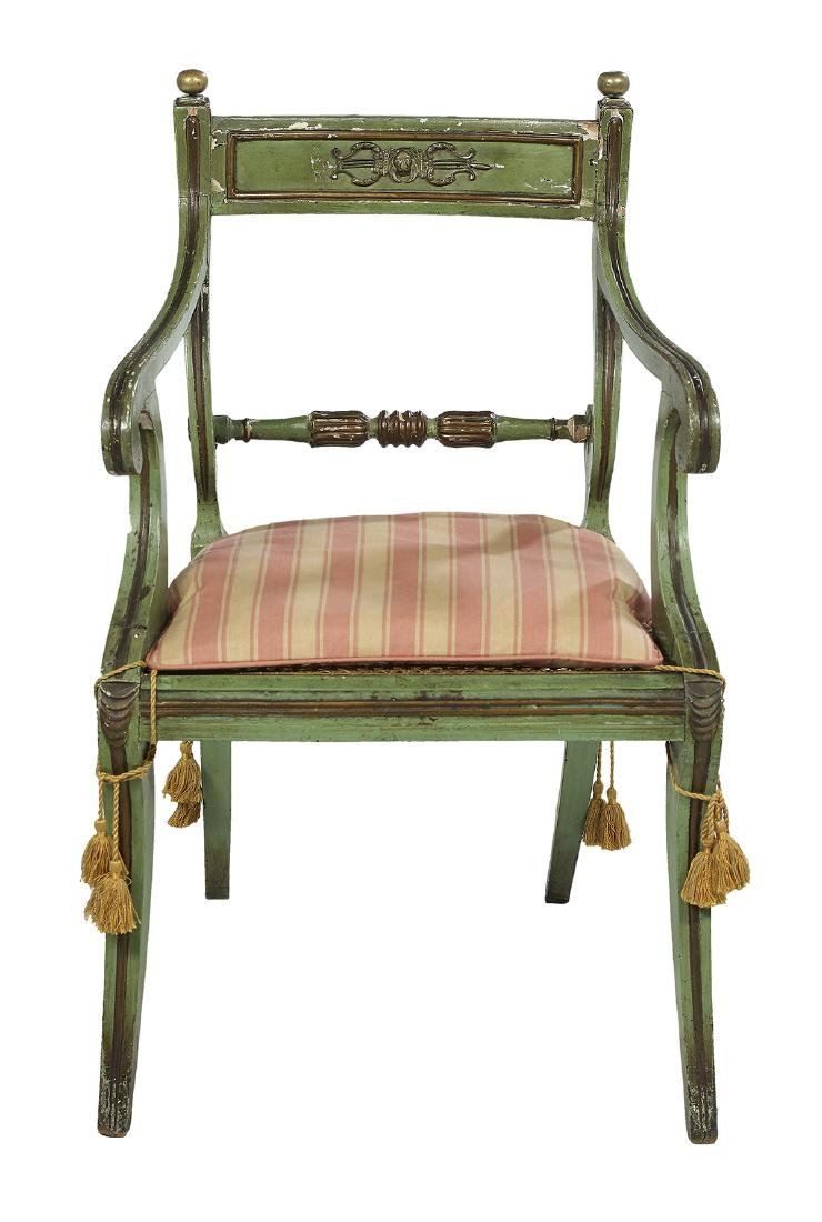 Six Continental Neoclassical Polychrome Chairs - 2