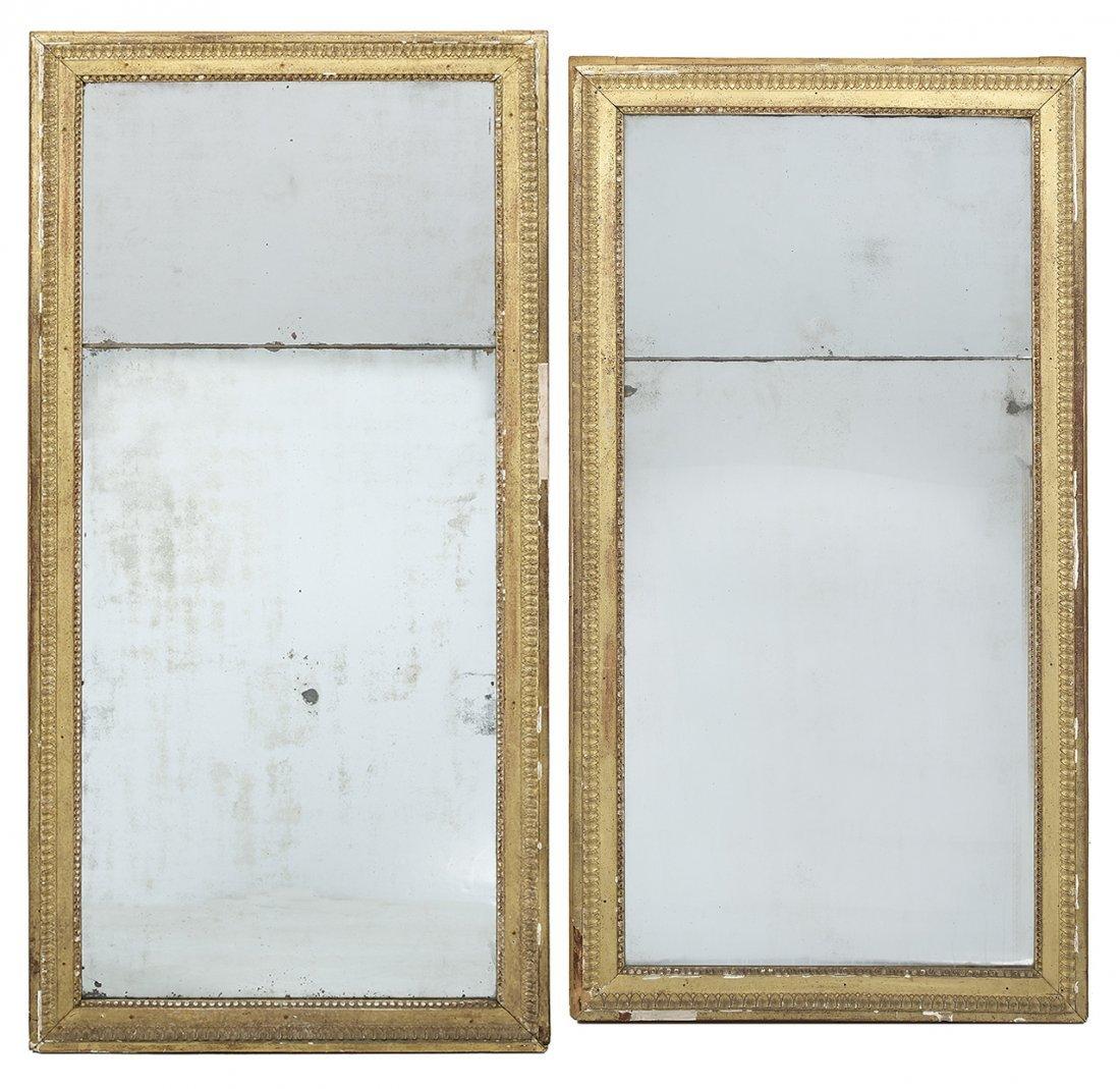 Assembled Pair of Louis XVI Giltwood Pier Mirrors