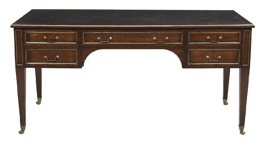 Louis XVI-Style Mahogany Bureau Plat