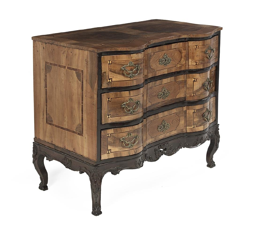 Italian Fruitwood and Elm Commode - 2