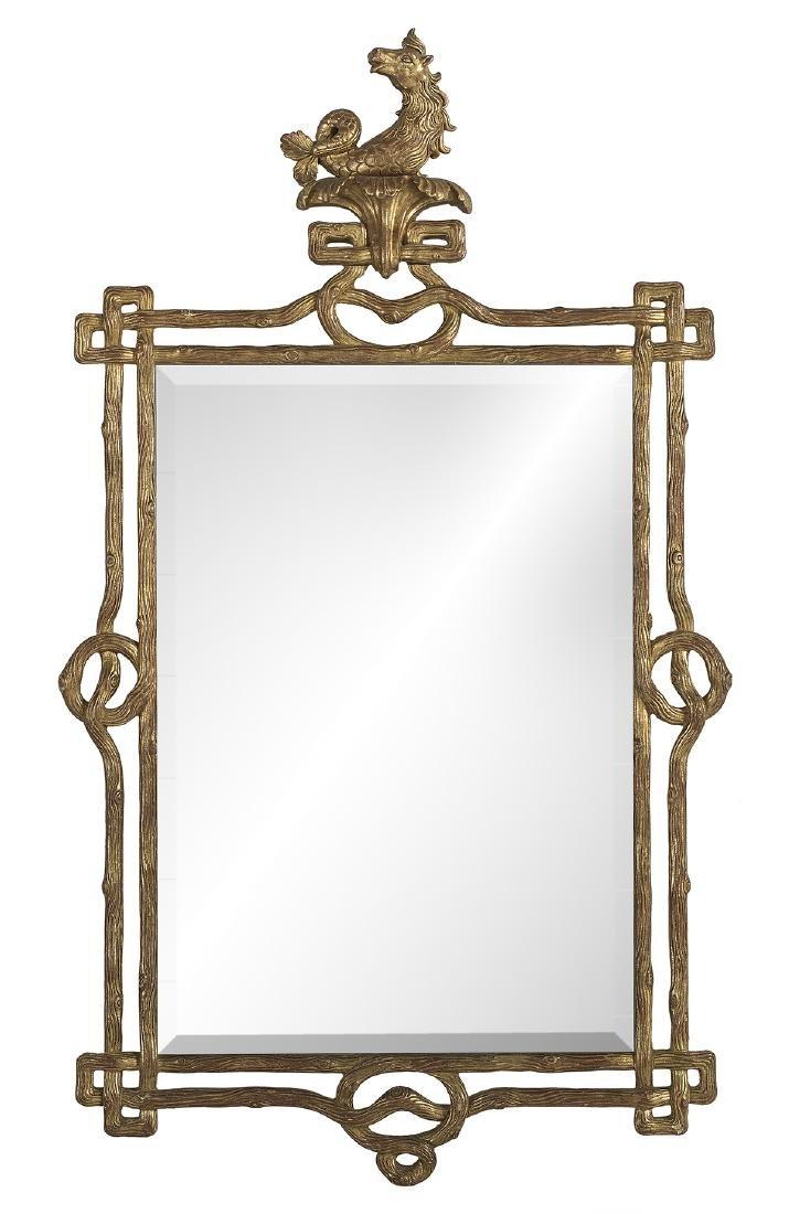 Unusual Italian Giltwood Mirror