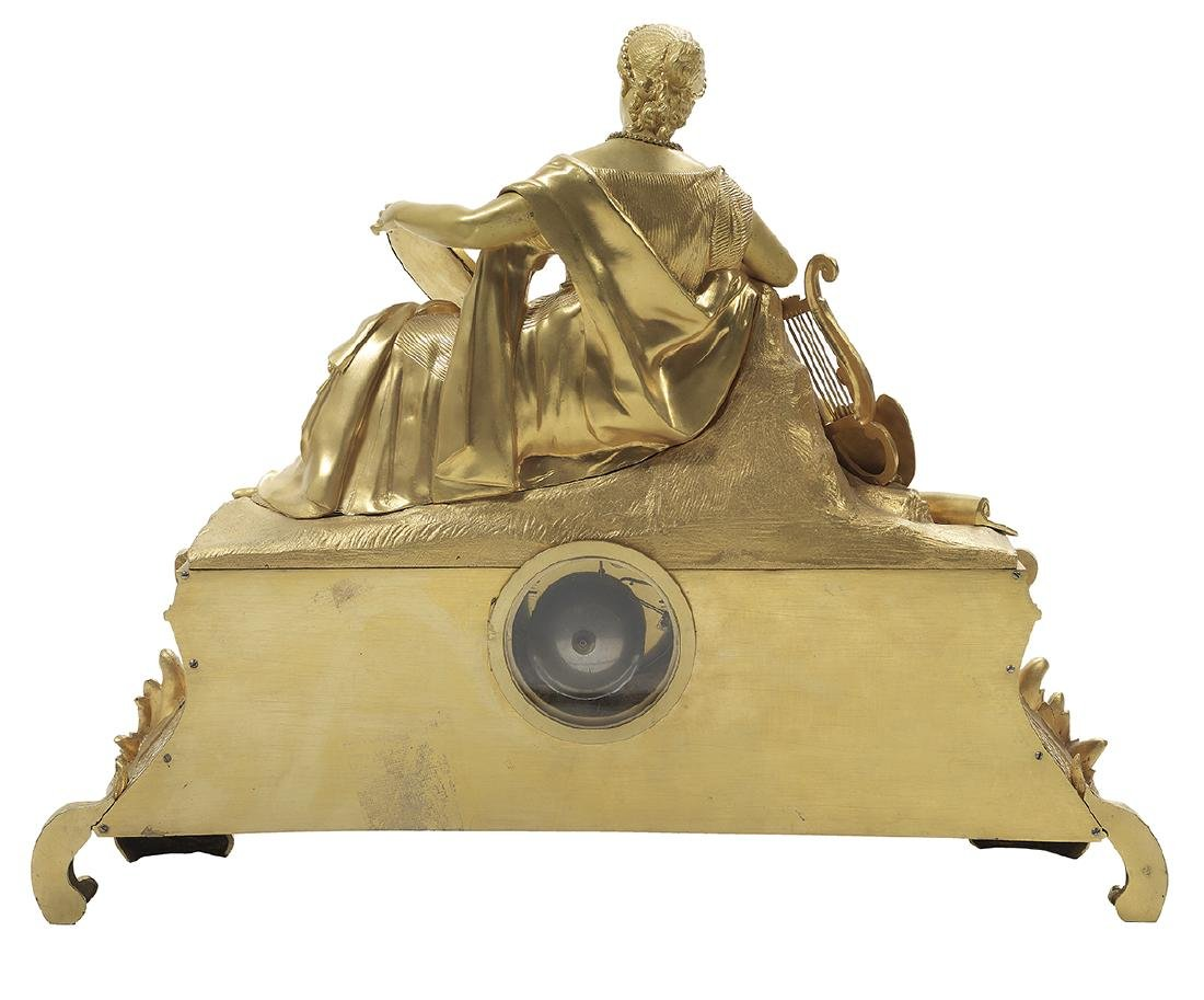 Napoleon III Bronze and Porcelain Mantel Clock - 4