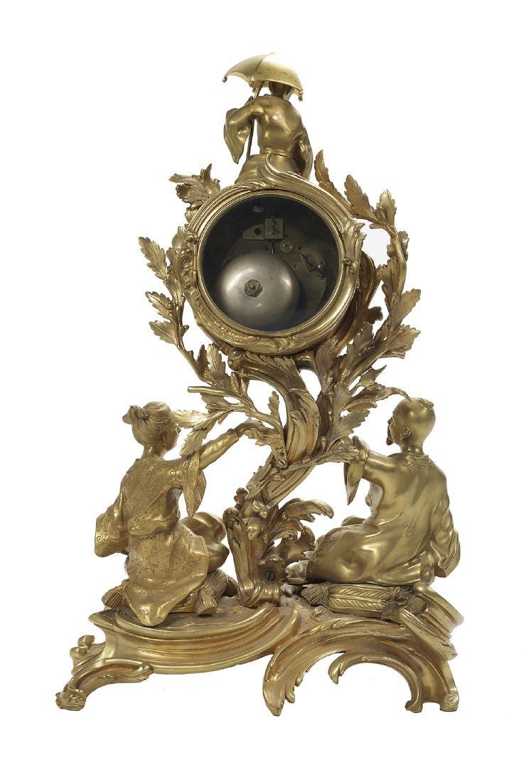 Louis XV Gilt-Bronze Mantel Clock - 2