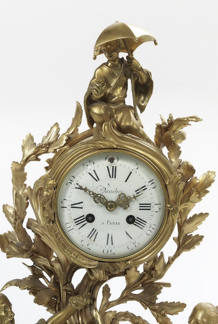 Louis XV Gilt-Bronze Mantel Clock - 3