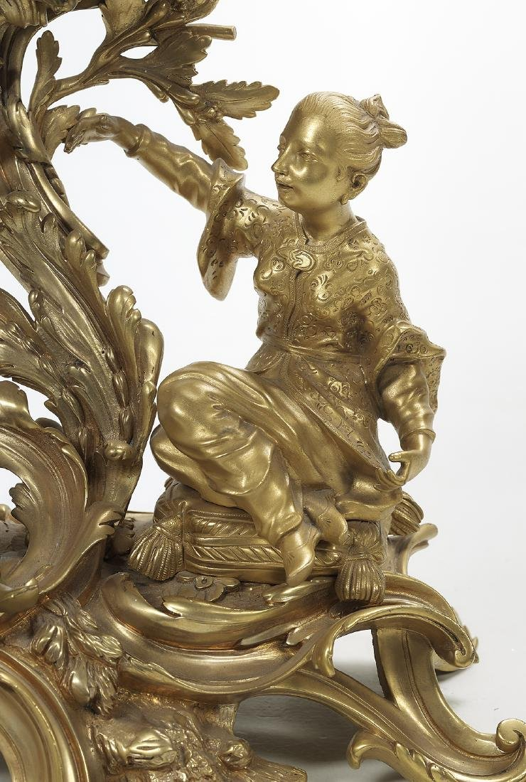 Louis XV Gilt-Bronze Mantel Clock - 5